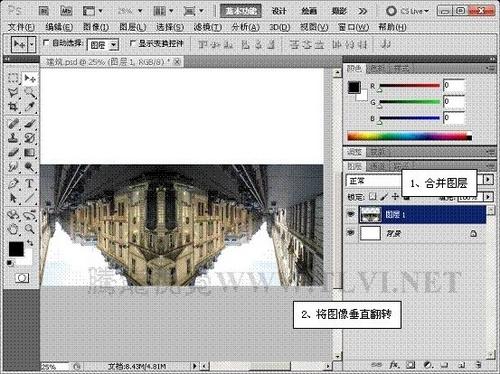 ps cs5滤镜打造盗梦空间海报图片