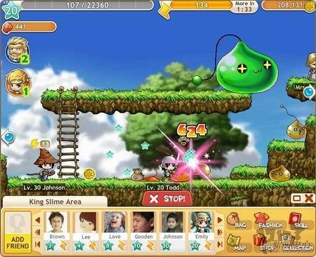 最近,《冒险岛探险》的日使用玩家超过40万人,成为上升速度最快的韩国