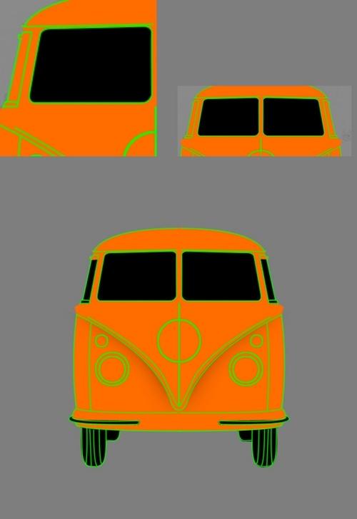 制作立体感的怀旧汽车图标