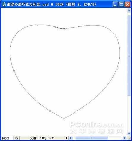 手绘心形轮廓图