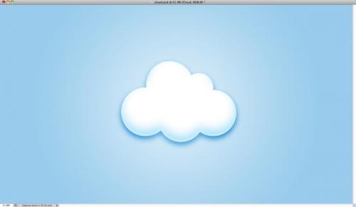 photoshop制作非常可爱的透明云彩壁纸