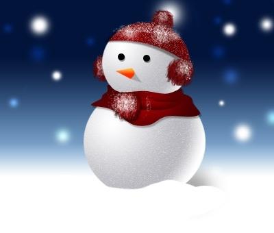 photoshop绘画一个可爱的雪人(2)