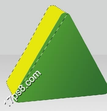 photoshop制作三维立体三角形图标(2)