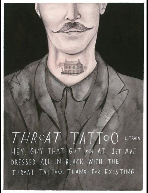 (纽约,地铁l线)嗨,第一大街上车那个穿了一身黑的脖子纹身哥.