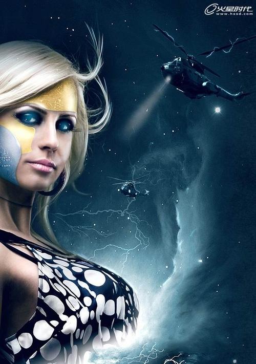 使用ps制作一幅科幻电影海报(2)