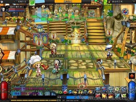 游戏采用2d人物3d场景,很多玩家在游戏中发现了不少与冒险岛相似的