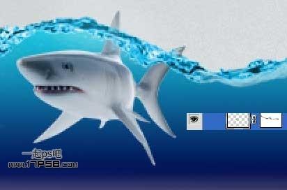 photoshop合成一条在瓶子里的鲨鱼(2)